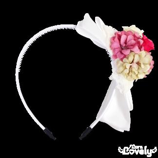 お花カチューシャ(ピンク系)