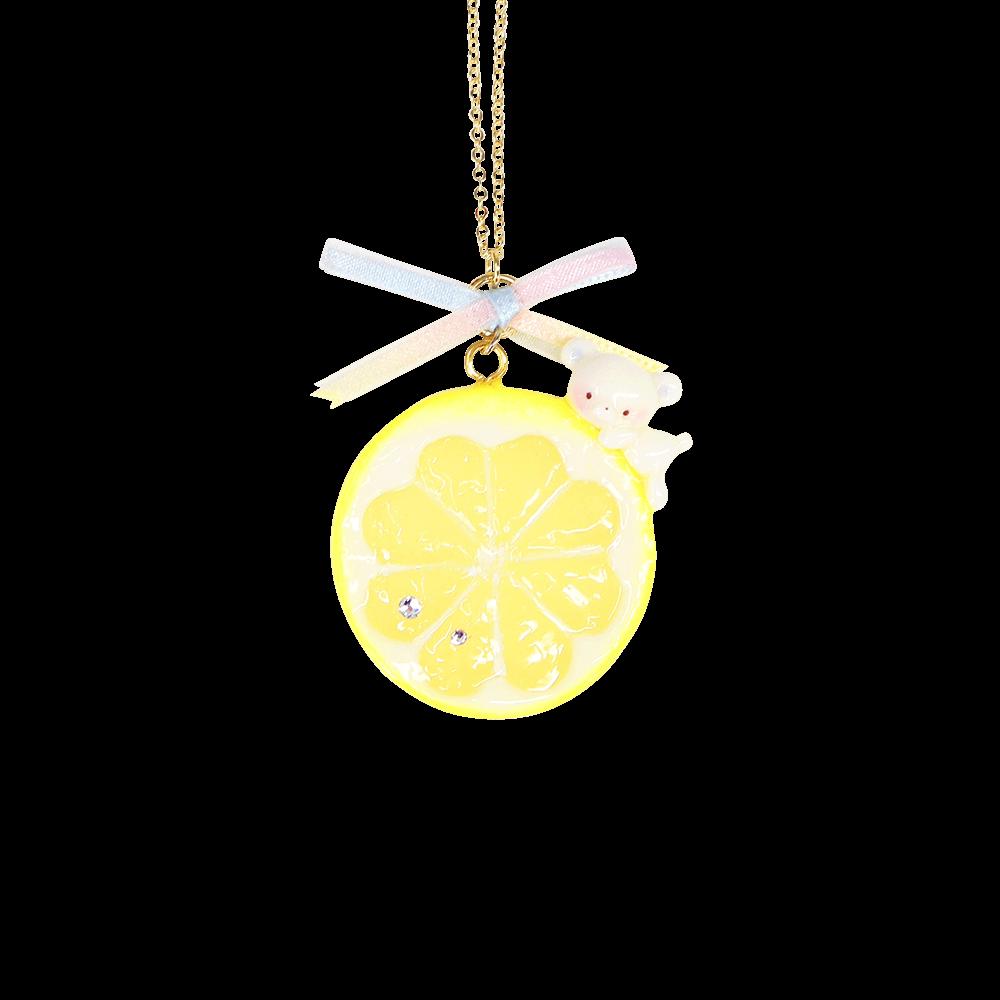 レモンのっかりぷちもこもネックレス